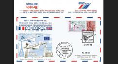 """CO-RET60 : 2016 - FDC ROYAUME-UNI """"Avion CONCORDE - 40 ans 1er vol Londres-Bahreïn"""""""
