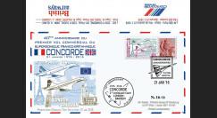 "CO-RET60 : 2016 - FDC ROYAUME-UNI ""Avion CONCORDE - 40 ans 1er vol Londres-Bahreïn"""