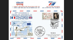 "CO-RET61 : 2016 - FDC ROYAUME-UNI ""Avion CONCORDE - 40 ans 1er vol Londres-Bahreïn"""