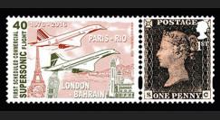 """CO-RET61N : 2016 - 1 TPP ROYAUME-UNI """"CONCORDE - 40 ans 1er vol Londres-Bahreïn"""""""