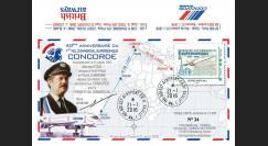 "CO-RET57 : 2016 - FDC FRANCE ""Avion CONCORDE - 40 ans 1er vol Paris-Rio de Janeiro"""