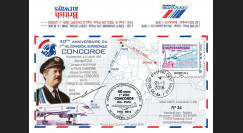 "CO-RET58 : 2016 - FDC FRANCE ""Avion CONCORDE - 40 ans 1er vol Paris-Rio de Janeiro"""