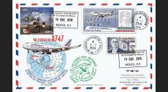 """B747-AF439T2 : 2016 - FFC MEXIQUE-FRANCE """"Boeing 747 AF - Dernier Vol Mexico-Paris"""""""