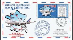 """B747-AF747T1 : 2016 - FFC FRANCE """"Boeing 747 AF - Dernier Vol Tour de France"""""""