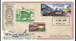 """A380-297T1 : 2016 - FFC MEXIQUE """"A380 Air France Vol inaugural AF439 Mexico-Paris"""""""