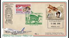 """A380-297T3 : 2016 - FFC MEXIQUE """"A380 Air France Vol inaugural AF439 Mexico-Paris"""""""