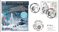 "VA223L-T2 : 2015 - FDC KOUROU ""Fusée ARIANE 5 - Vol 223 / DIRECTV 15 - Airbus Space"""