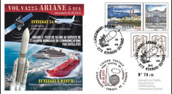 """VA225L-T2 : 2015 - FDC KOUROU """"Fusée ARIANE 5 - Vol 225 / EUTELSAT 8 & INTELSAT 34"""""""