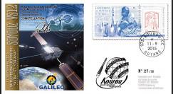 "VS12L : 2015 - FDC KOUROU ""Fusée SOYOUZ - Vol n°12 / Constellation GALILEO - ALBA & ORIANA"""