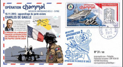 PADG15-2 : 2015 - France FDC 'Opération Chammal (Syrie) - Porte-avions Charles de Gaulle'