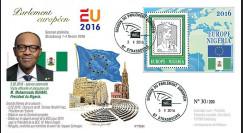 "PE694 : 02-2016 - FDC Parlement européen ""Visite M. Muhammadu BUHARI"