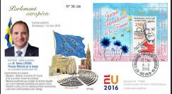 """PE695 : 03-16 FDC Parlement européen """"Premier ministre suédois / Journée Int. Femme"""""""