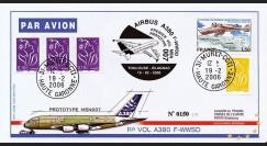 "A380-15T1 - 2006 : Pli ""1er Vol Airbus A380 Prototype MSN007"""