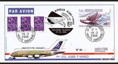 "A380-15T2 - 2006 : Pli ""1er Vol Airbus A380 Prototype MSN007"""