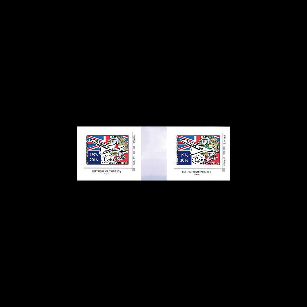 """CO-RET62/63P : Paire 2 TPP """"40 ans 1ers vols Concorde - Parlement européen"""" 8-5-2016"""