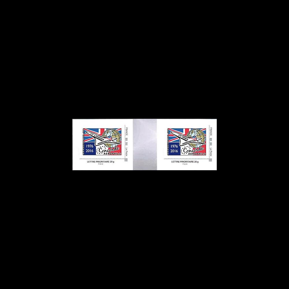 """CO-RET65/66P : Paire 2 TPP """"40 ans 1ers vols Concorde - Parlement européen"""" 8-5-2016"""