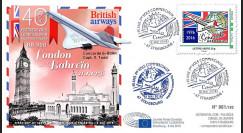 """CO-RET63 : 8-5-16 - FDC Parlement européen """"40 ans 1er vol Concorde Londres - Barhein"""""""