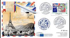 """CO-RET64 : 8-5-16 - FDC PJ Parlement européen """"40 ans 1er vol Concorde Paris - Caracas"""""""