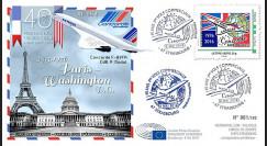 """CO-RET65 : 8-5-16 - FDC Parlement européen """"40 ans 1er vol Concorde Paris - Washington"""""""