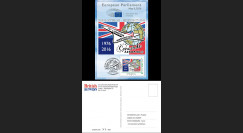 """CO-RET66CM : 8-5-16 - Carte Parlement européen """"40. 1er Concorde Londres - Washington"""""""
