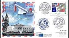 """CO-RET66 : 8-5-16 - FDC Parlement européen """"40 ans 1er Concorde Londres - Washington"""""""