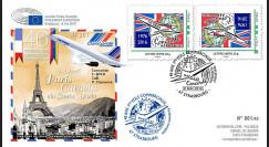 """CO-RET64V : 8-5-16 - FDC variété Parlement européen """"40 ans 1er Concorde Paris - Caracas"""""""