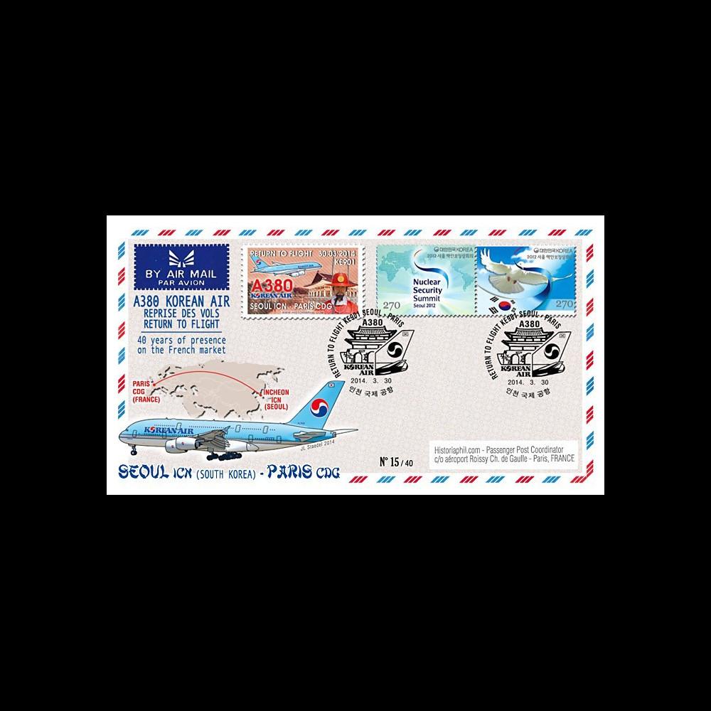 """A380-279T1 : 2014 - FFC Corée du Sud A380 Korean Air """"Return to Flight Séoul - Paris"""""""
