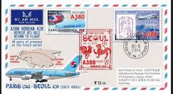 """A380-282T2 : 2014 - FFC FRANCE A380 Korean Air """"Return to Flight Paris - Séoul"""""""