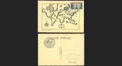 W2-FR741-D1 : Carte Maxi Planisphère 'LA FRANCE D'OUTRE-MER DANS LA GUERRE 1945'