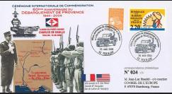 """DEB04-P1 : 2004 - FDC """"60 ans Débarquement en Provence - DE LATTRE"""" - Toulon"""