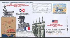 """DEB04-P2 : 2004 - FDC """"60 ans Débarquement en Provence - DE LATTRE"""" - Toulon armées"""