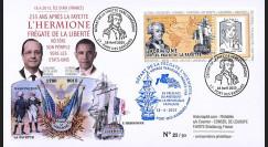"""HLF15-1A : 18-04-2015 - FDC """"Départ de la frégate de la liberté l'Hermione"""" - Ile d'Aix"""