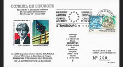 """CE44-V : 1993 FDC """"Demande d'adhésion Estonie"""