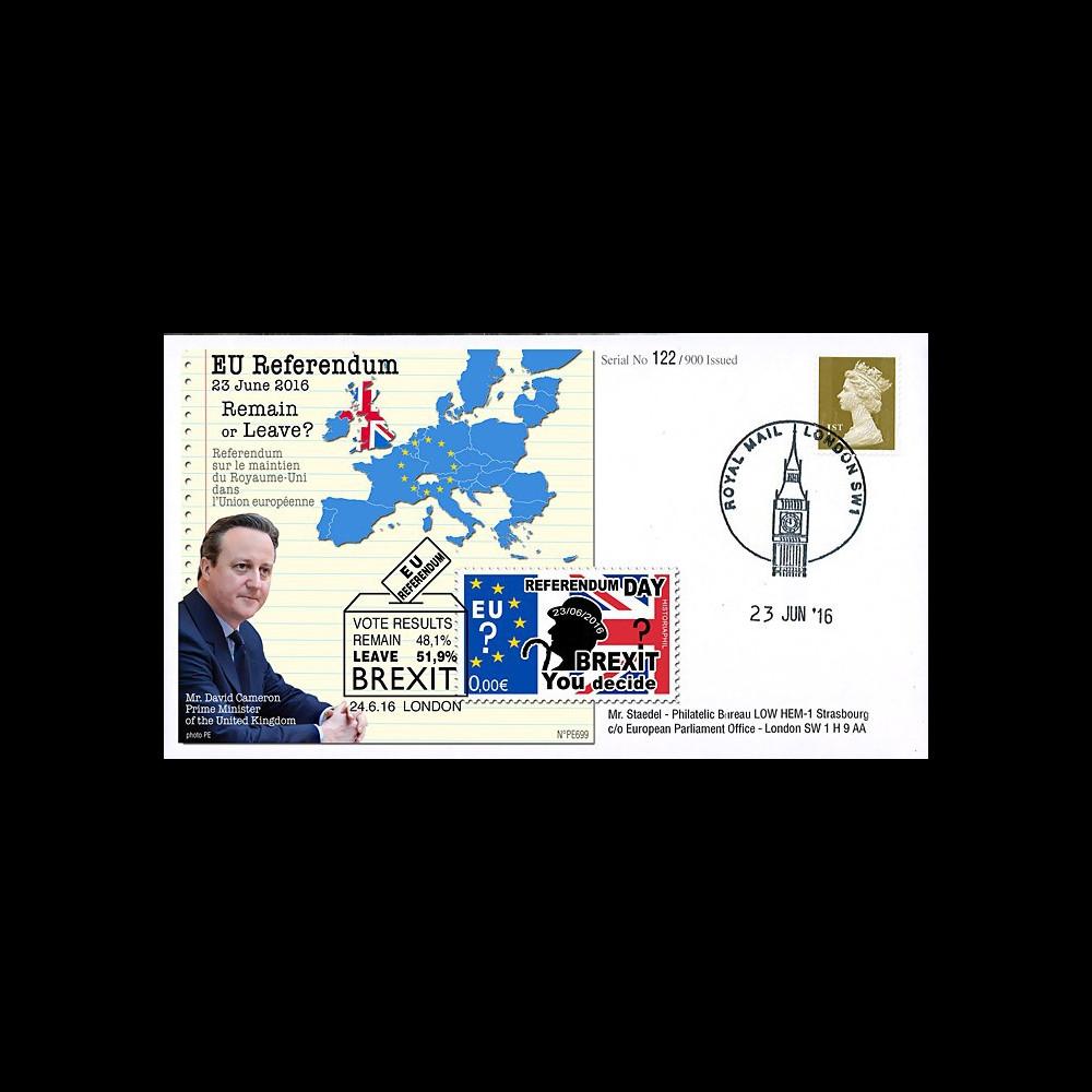 """PE699T5 : 23.6.16 FDC Londres """" Référendum maintien du Royaume-Uni dans l'UE - BREXIT """""""