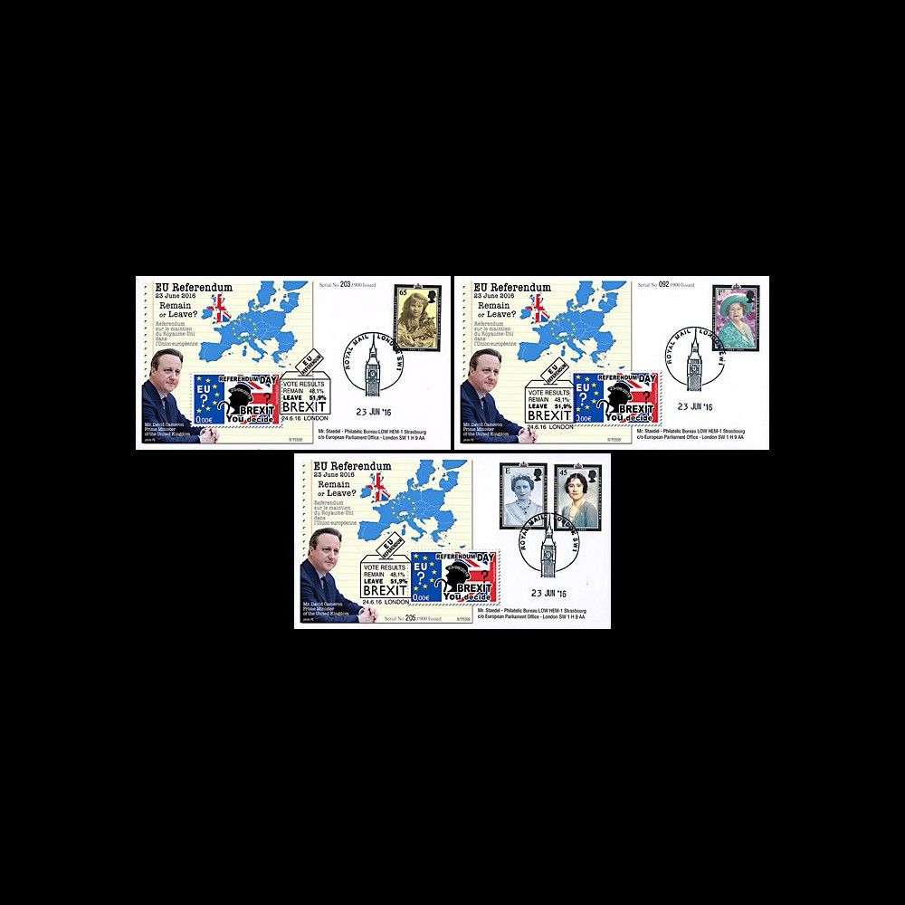 """PE699T6 : 23.6.16 3 FDC Londres """" Référendum maintien du Royaume-Uni dans l'UE - BREXIT """""""