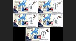 PE699T12/16 : 23.6.16 - 5 FDC Londres Référendum du BREXIT - Royaume-Uni quitte l'UE