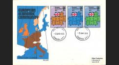 """LE71 : 1973 - FDC 1er Jour Grande-Bretagne Londres """"Adhésion à la CEE"""""""