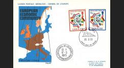 """LE70 : 1973 - FDC 1er Jour Gibraltar (Royaume-Uni) """"Adhésion à la CEE"""""""