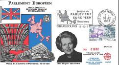 """PE28 : 1981 - FDC PE """" Bilan de la Présidence britannique de l'UE par Margaret THATCHER """""""