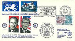 PE256 : 1992 - FDC PE 'Bilan Présidence britannique UE par John MAJOR / KLESTIL Autriche'