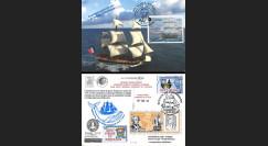"""HLF15-20B : 2015 - Carte Maxi SPM-FRANCE à bord """"Escale 16 Saint-Pierre - L'HERMIONE"""""""