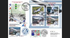"""CO-RET73 : 2016 - Maxi-FDC Rép. de Guinée/France """"40 ans 1er vol Concorde Paris - Rio"""""""