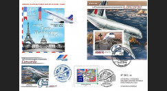 "CO-RET74 : 2016 Maxi-FDC Rép. Guinée/France ""40 ans 1er vol Concorde Paris-Washington"""