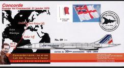 CO-RET26 : 2006 - Pli commémoratif Concorde 30 ans vol Paris-Dakar-Rio