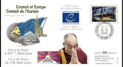 """CE67-IV : 15-09-2016 FDC """"Visite du XIVe DALAÏ LAMA au Conseil de l'Europe de Strasbourg"""""""