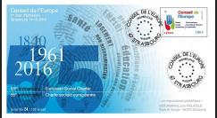 """CE67-PJ : 14-10-2016 FDC 1er JOUR Conseil de l'Europe """"55 ans Charte Sociale Européenne"""""""