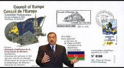 """CE55-II : 04-2004 FDC Conseil de l'Europe """"Visite de M. ALIYEV"""