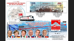 "GOT2016-1T2 : 2016 Maxi-FDC ""Inauguration du plus long tunnel du monde Saint-Gothard"""