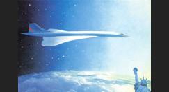 """CO-86CP4 : 1986 - CP """"Concorde AF 10 ans Paris-NY en 3h30 / 100 ans Statue Liberté"""""""