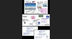 "AF200/201 : 26-27.03.1982 - 2 FFC voyagées ""Dernier vol Concorde AF Paris-Caracas"""